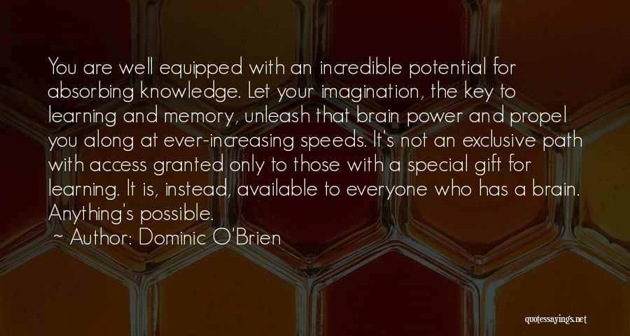 Memory And The Brain Quotes By Dominic O'Brien