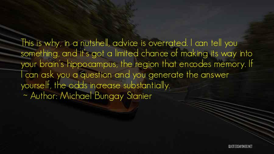 Memory And The Brain Quotes By Michael Bungay Stanier