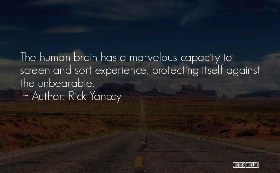 Memory And The Brain Quotes By Rick Yancey