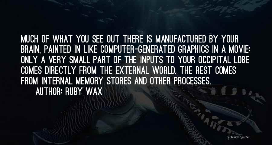 Memory And The Brain Quotes By Ruby Wax