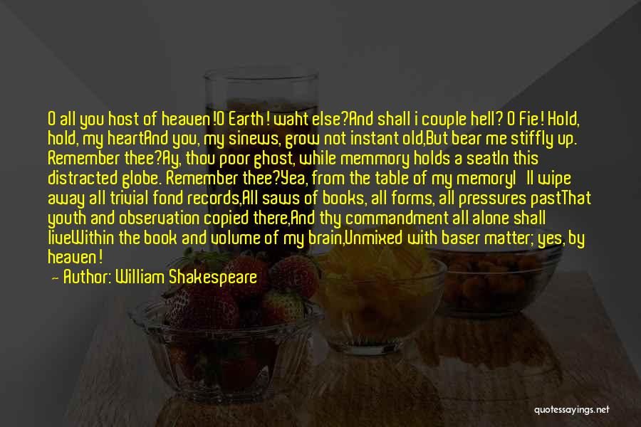 Memory And The Brain Quotes By William Shakespeare