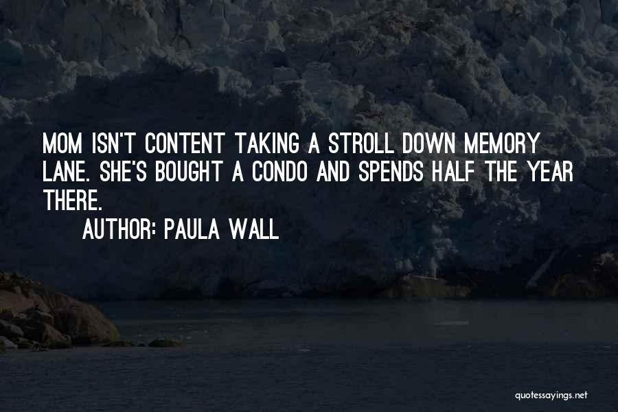 Memory Lane Quotes By Paula Wall