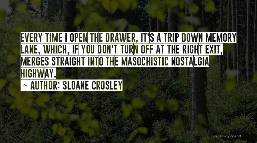 Memory Lane Quotes By Sloane Crosley