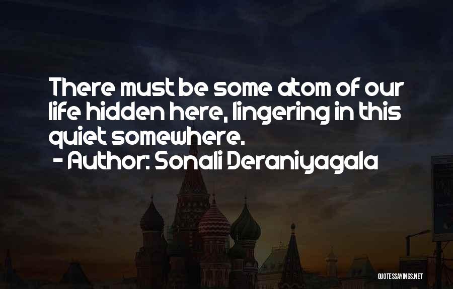 Memory Lane Quotes By Sonali Deraniyagala