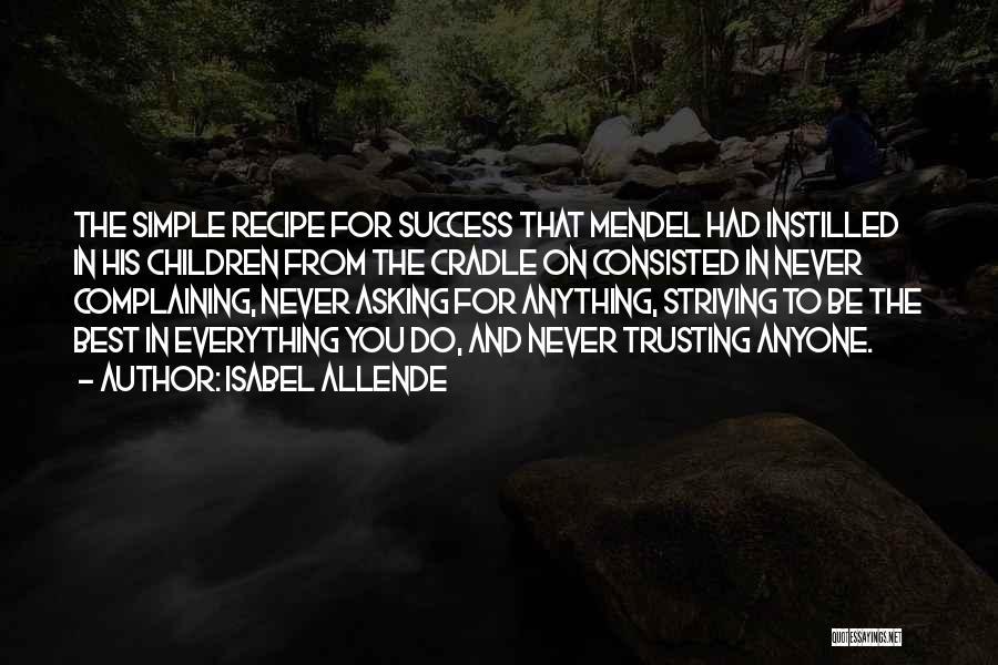 Mendel Quotes By Isabel Allende