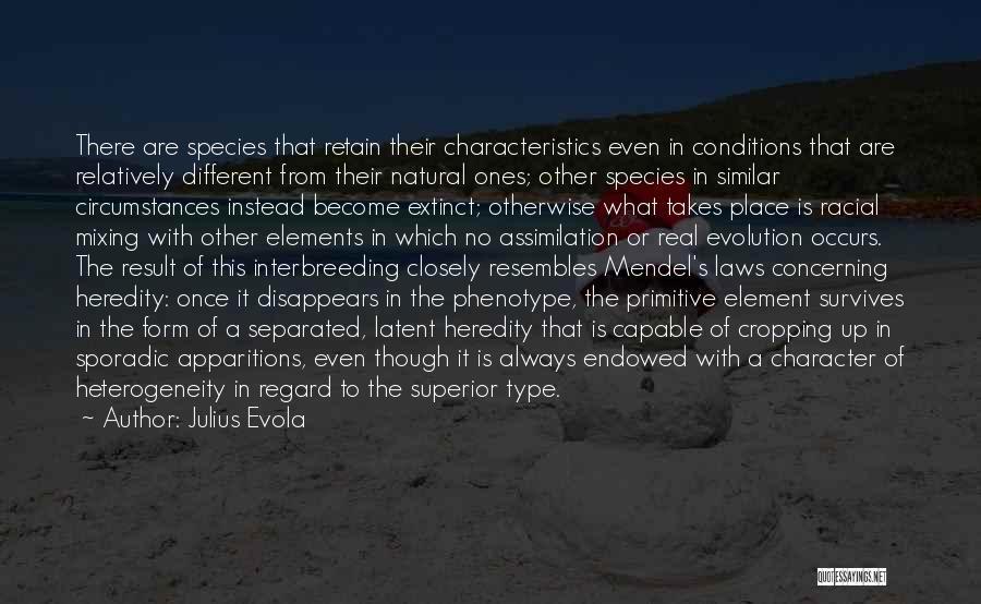 Mendel Quotes By Julius Evola