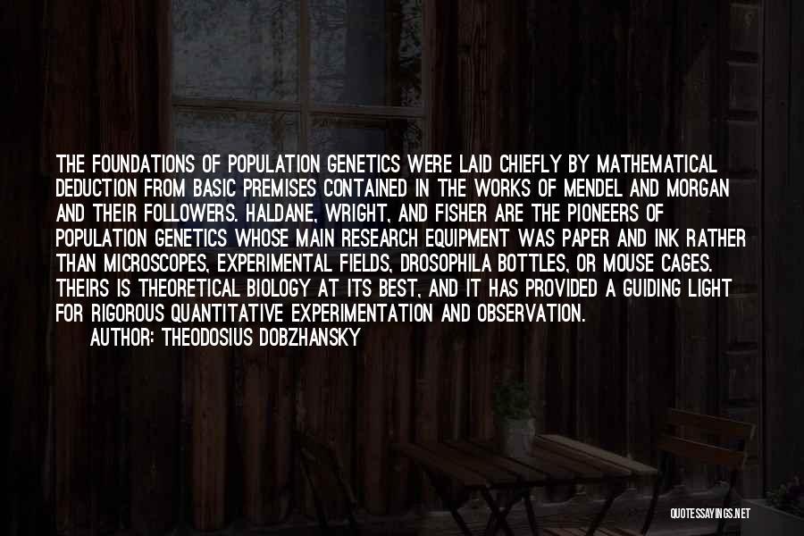 Mendel Quotes By Theodosius Dobzhansky
