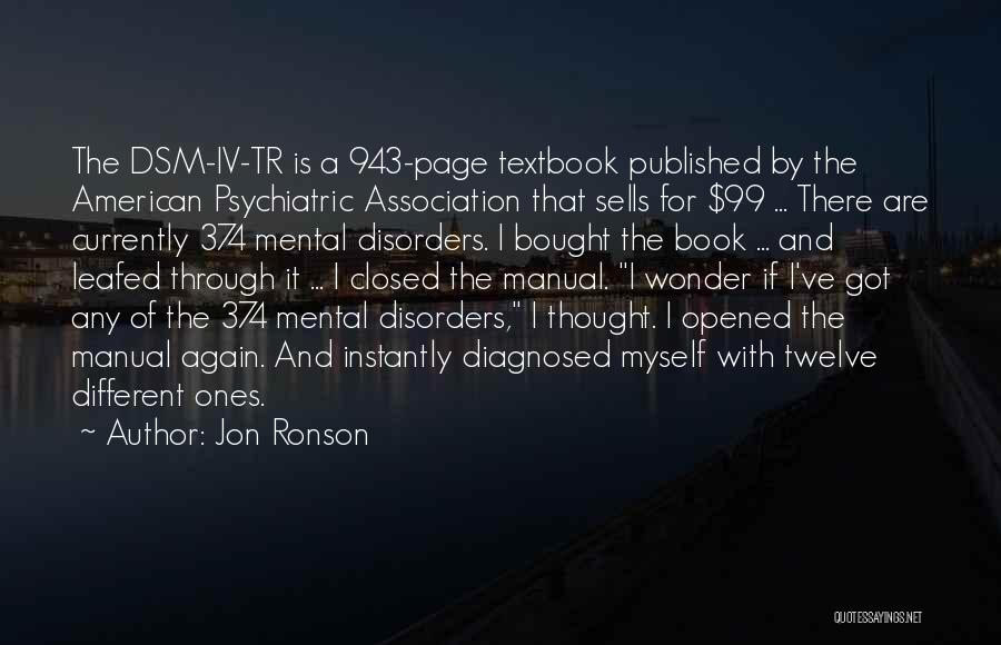 Mental Disorders Quotes By Jon Ronson