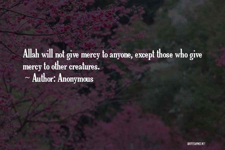 Mercy Of Allah Quotes By Anonymous