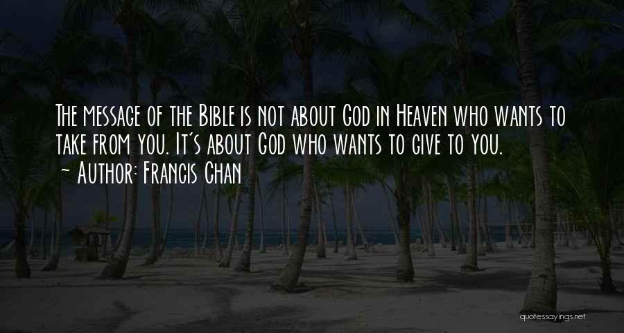 Messages Quotes By Francis Chan