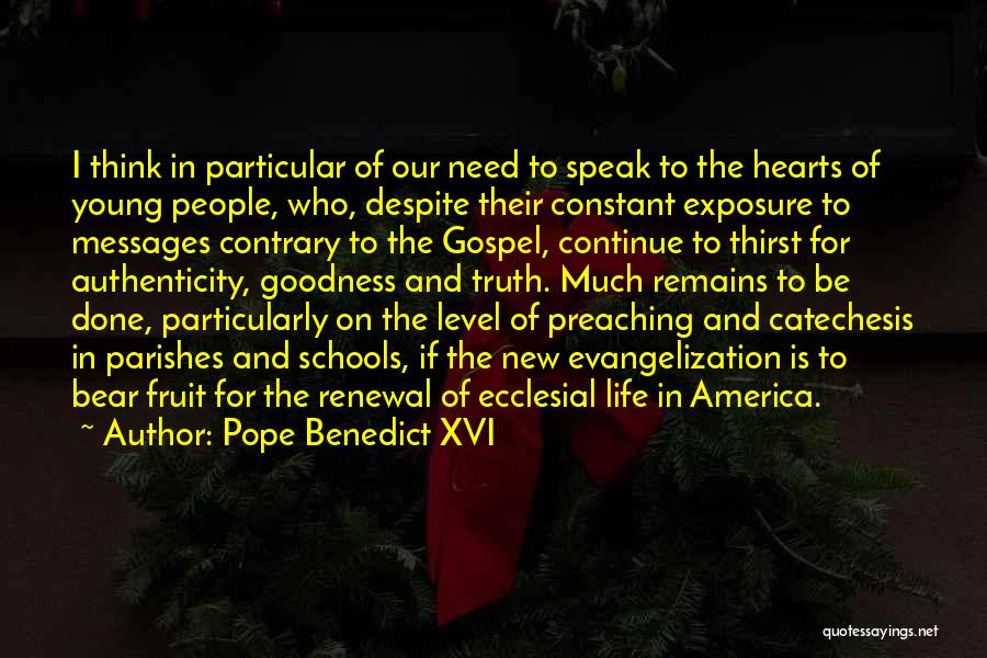 Messages Quotes By Pope Benedict XVI