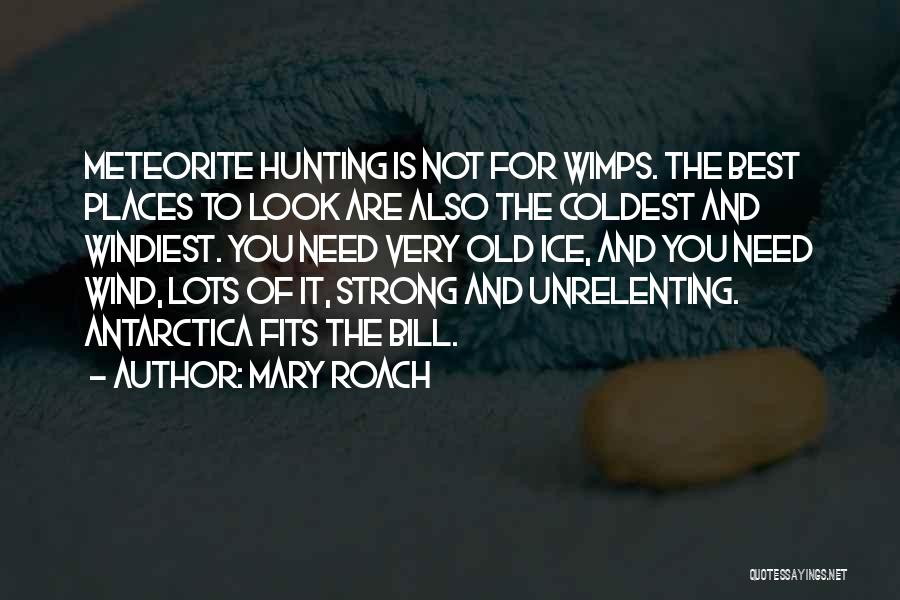 Meteorite Quotes By Mary Roach