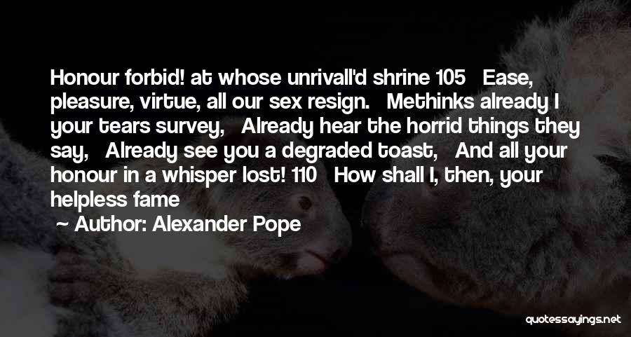 Methinks Quotes By Alexander Pope