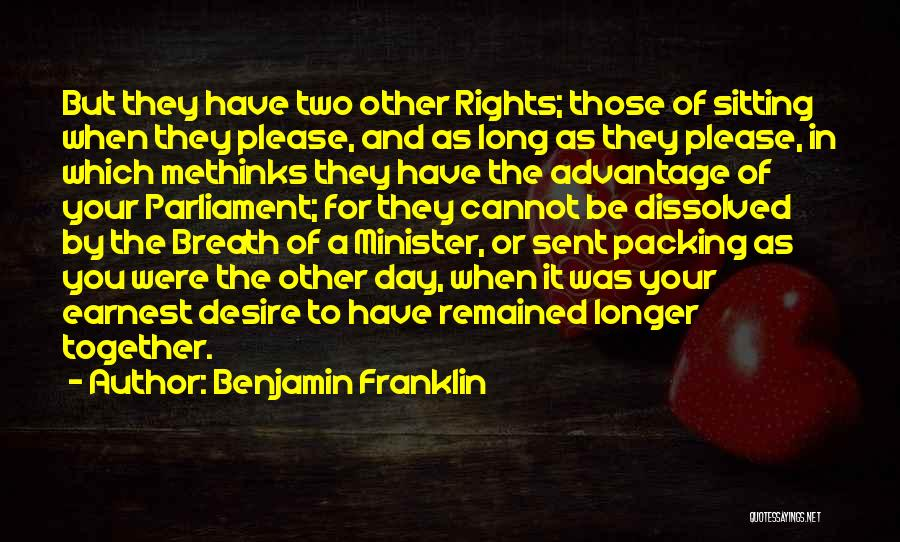 Methinks Quotes By Benjamin Franklin