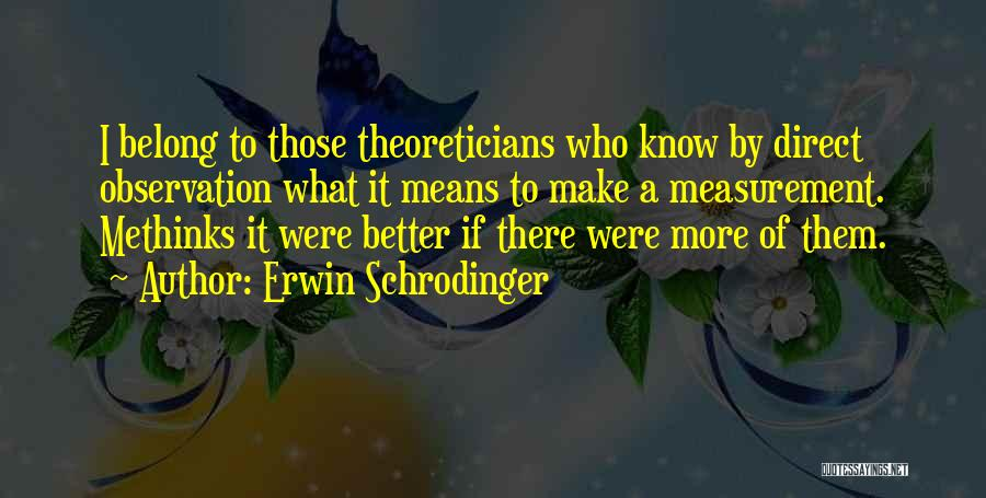 Methinks Quotes By Erwin Schrodinger