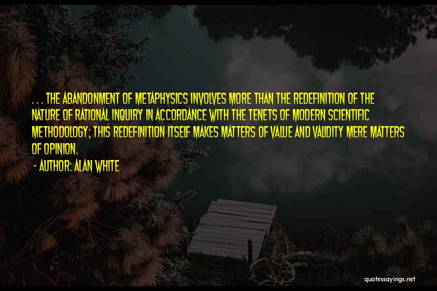 Methodology Quotes By Alan White