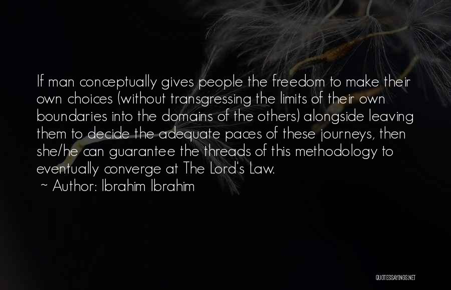 Methodology Quotes By Ibrahim Ibrahim