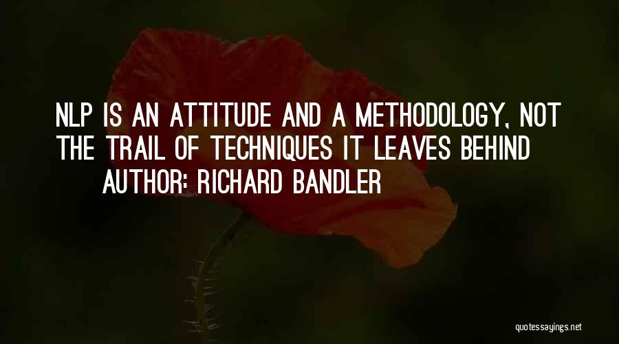 Methodology Quotes By Richard Bandler