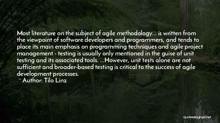 Methodology Quotes By Tilo Linz