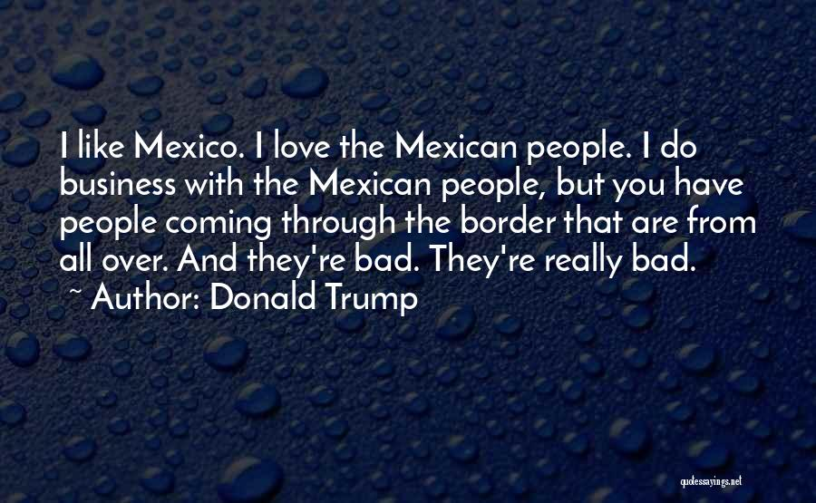 Mexican Quotes By Donald Trump