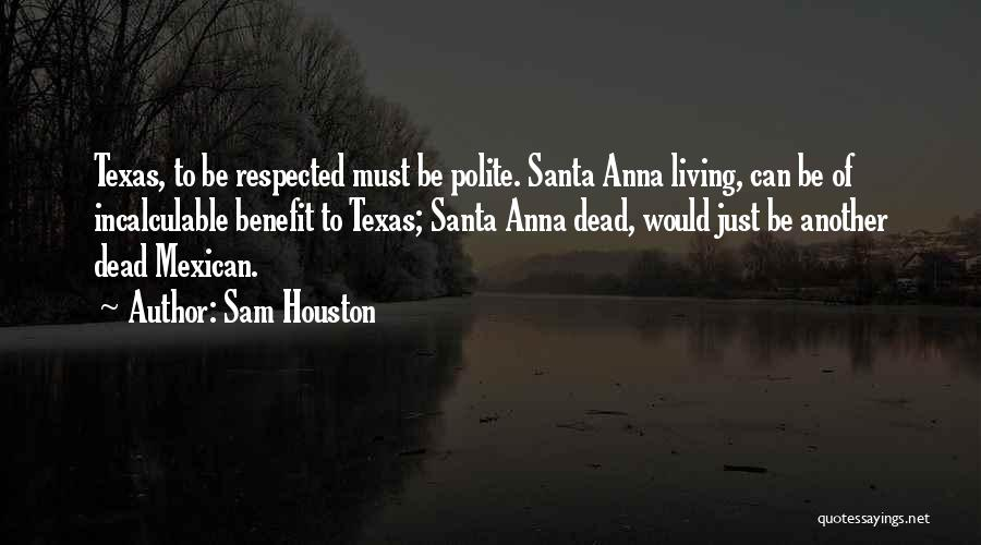 Mexican Quotes By Sam Houston