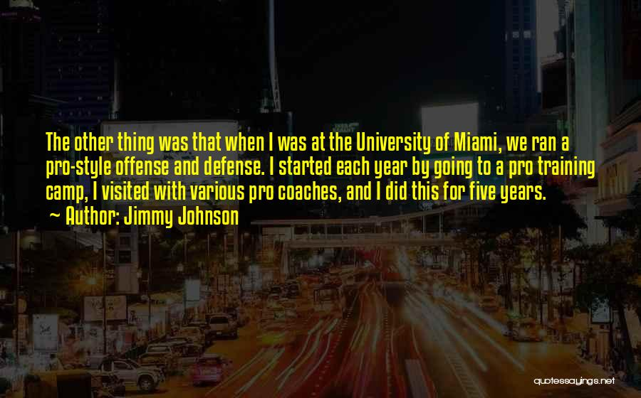 Miami University Quotes By Jimmy Johnson