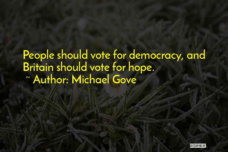 Michael Gove Quotes 996129