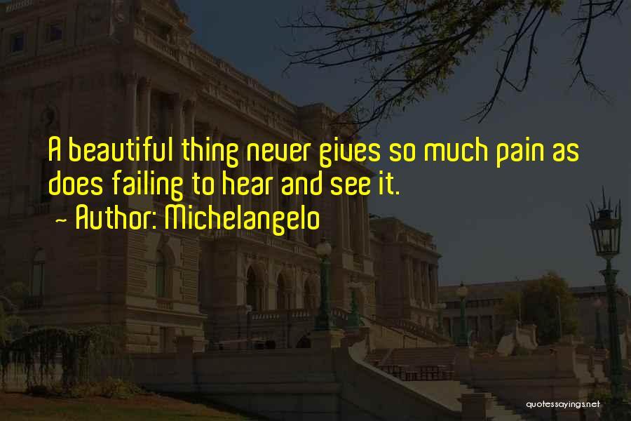 Michelangelo Quotes 92438