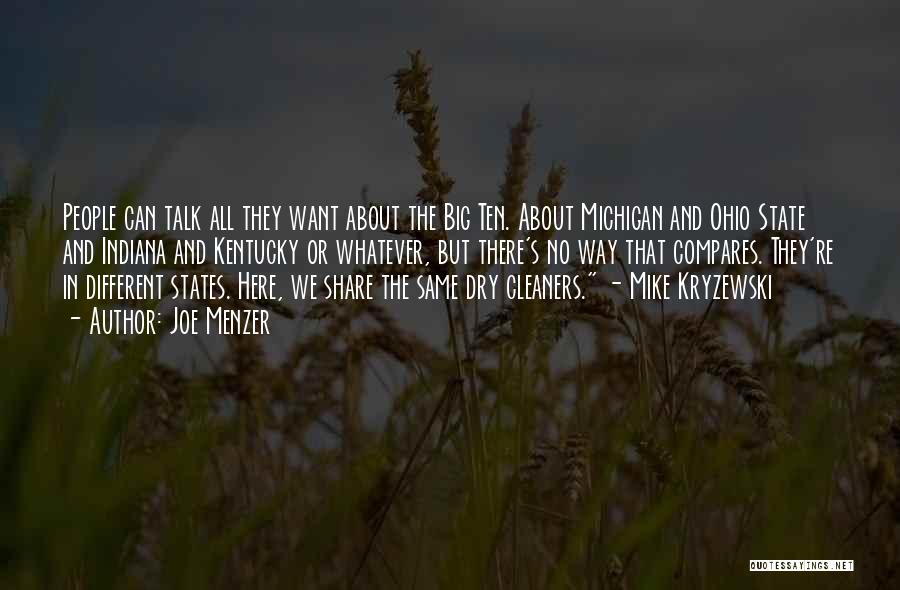 Michigan Quotes By Joe Menzer