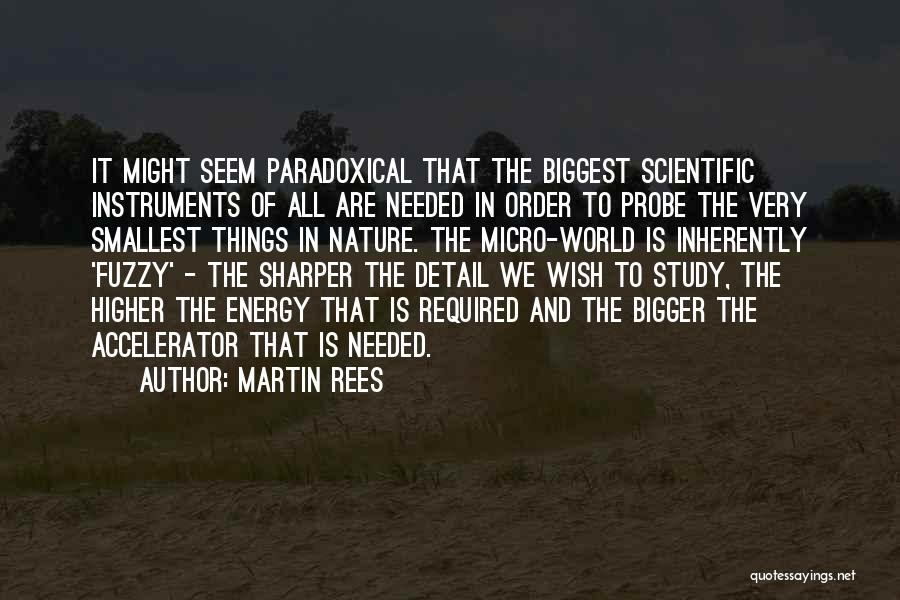 Micro World Quotes By Martin Rees