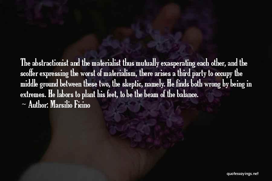 Middle Ground Quotes By Marsilio Ficino