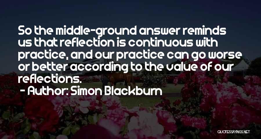 Middle Ground Quotes By Simon Blackburn