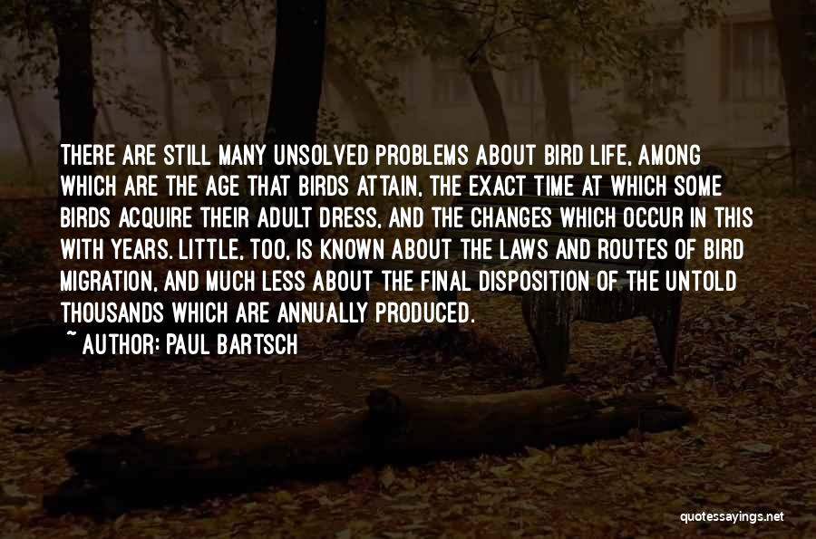 Migration Of Birds Quotes By Paul Bartsch