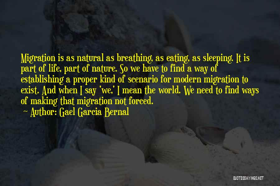 Migration Quotes By Gael Garcia Bernal