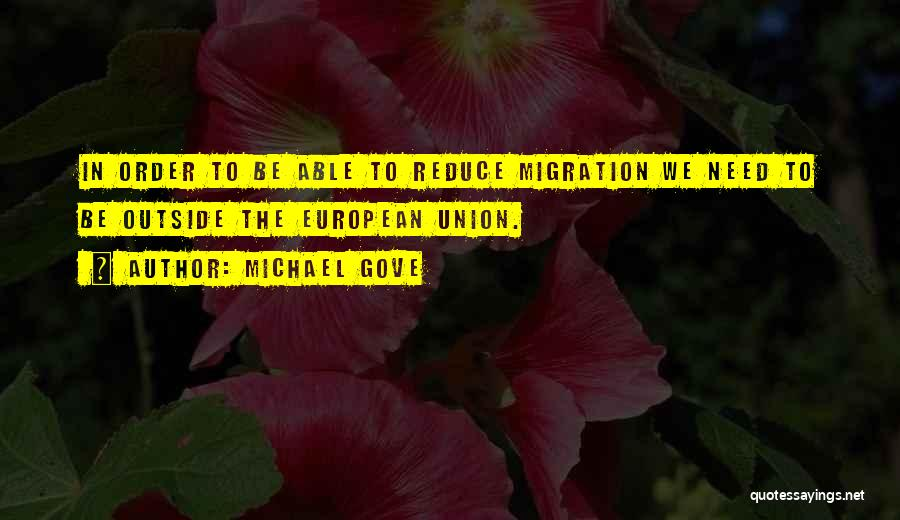 Migration Quotes By Michael Gove