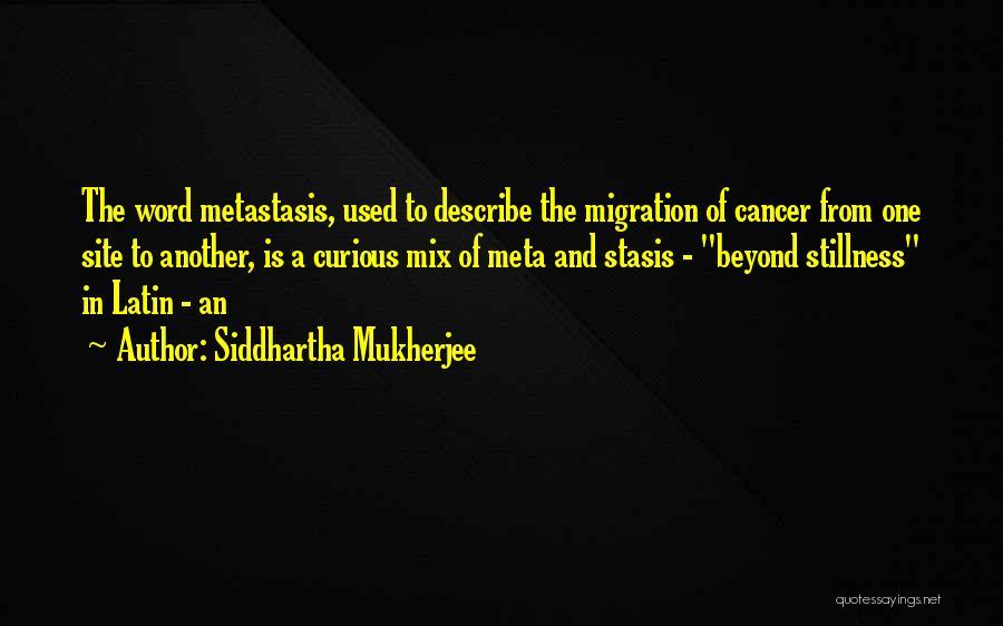 Migration Quotes By Siddhartha Mukherjee
