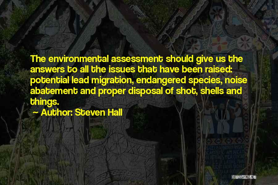 Migration Quotes By Steven Hall