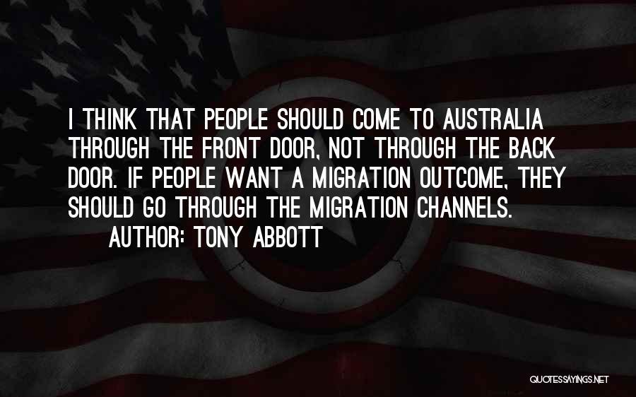 Migration Quotes By Tony Abbott