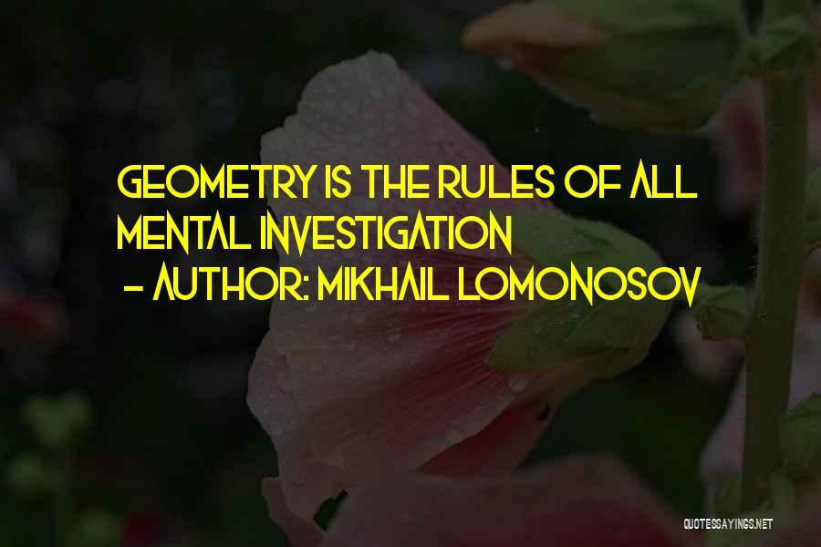 Mikhail Lomonosov Quotes 609137