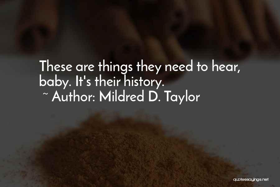 Mildred D. Taylor Quotes 243123