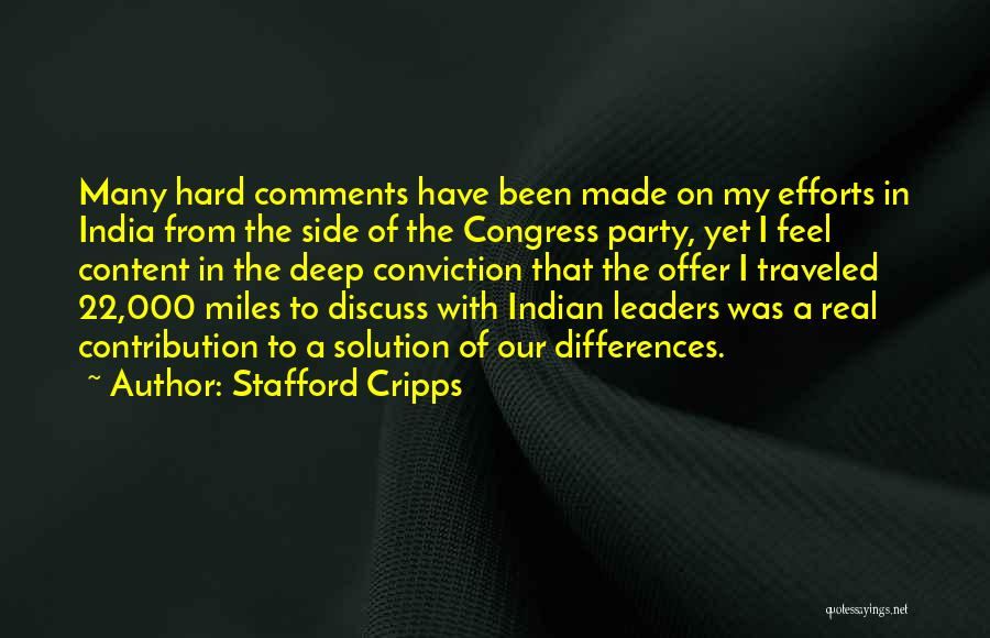 Miles Traveled Quotes By Stafford Cripps