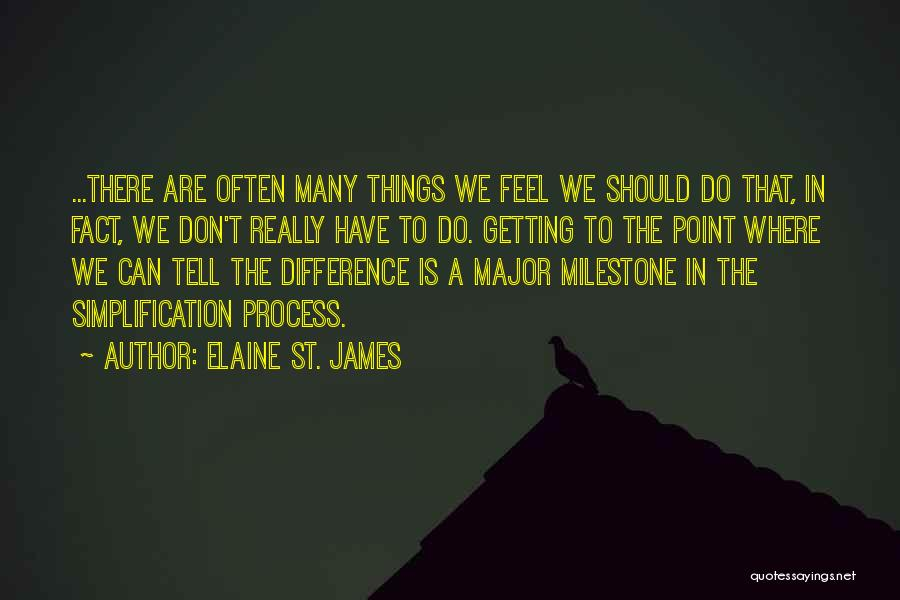 Milestone Quotes By Elaine St. James