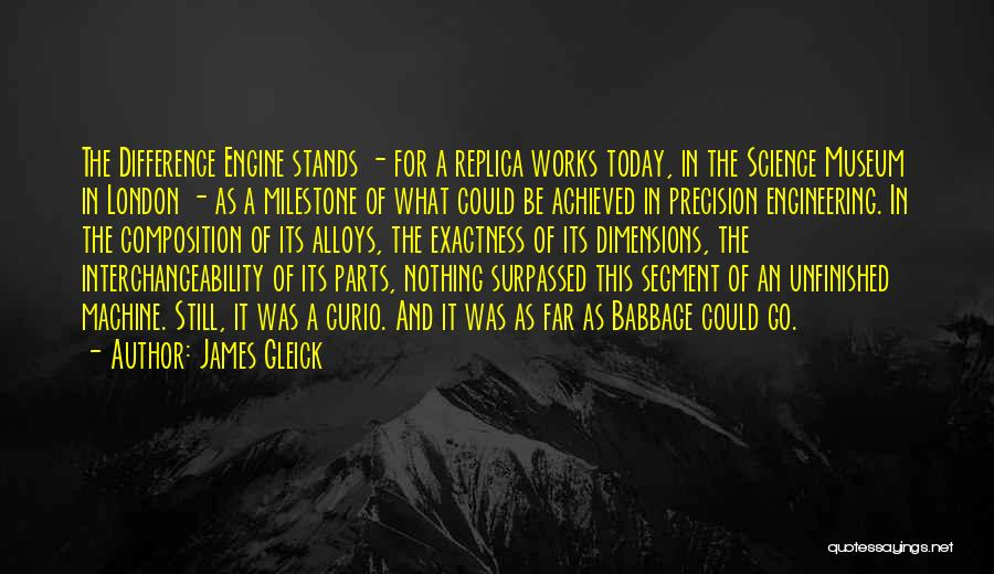 Milestone Quotes By James Gleick
