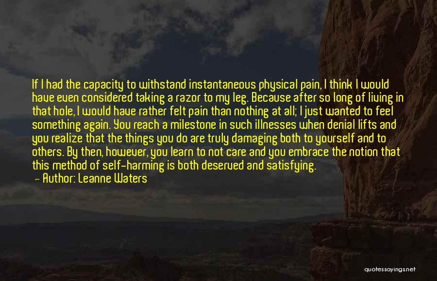 Milestone Quotes By Leanne Waters