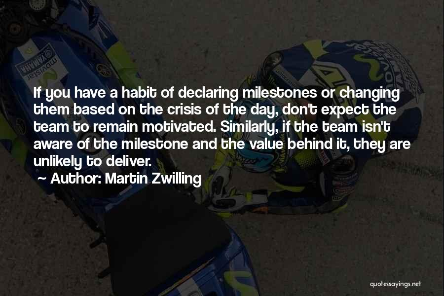 Milestone Quotes By Martin Zwilling