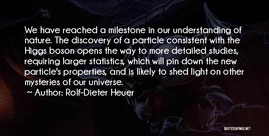Milestone Quotes By Rolf-Dieter Heuer