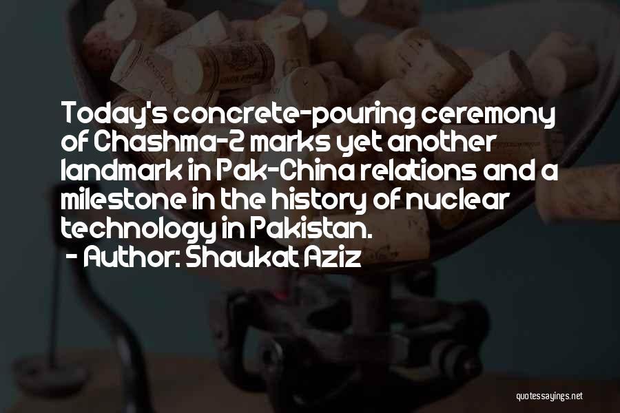Milestone Quotes By Shaukat Aziz