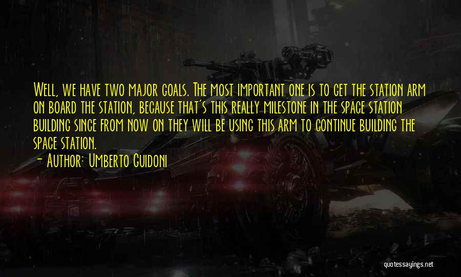 Milestone Quotes By Umberto Guidoni