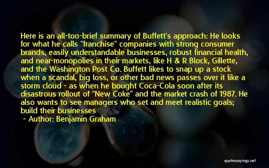 Million Dollar Quotes By Benjamin Graham