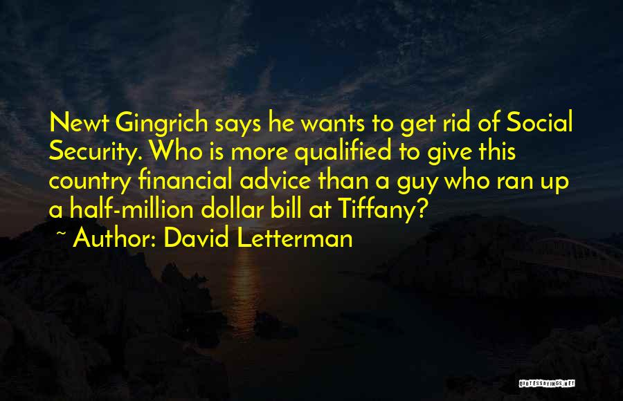 Million Dollar Quotes By David Letterman